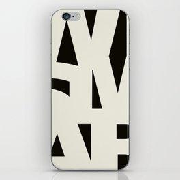 Wismar Typografie Dark iPhone Skin