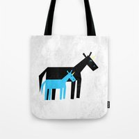 dad Tote Bags featuring Thanks Dad by That's So Unicorny