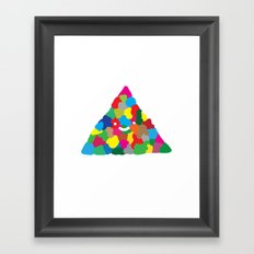 happy colour triangle Framed Art Print