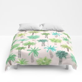 Watercolor Palm Trees Comforters