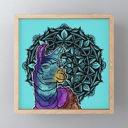 Llama-Catalyst Ranch Framed Mini Art Print