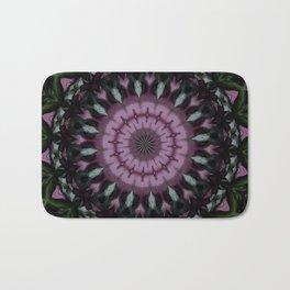 Rose And Jade Geometric Mandala Pattern Bath Mat