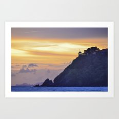 Sunset on the islands Art Print