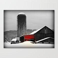 Silo and Snow Canvas Print