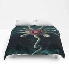 The Xenobite Facehugger Comforters