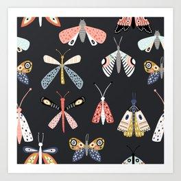 Moths and Butterflies Art Print