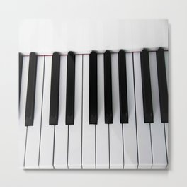 Piano Keys Photo Metal Print