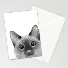 Siamese sneak-a-peek Stationery Cards