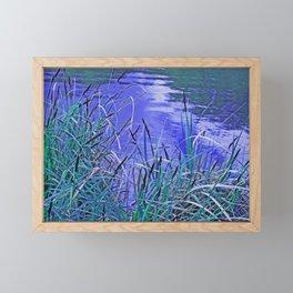 In the reeds Framed Mini Art Print