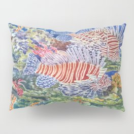 Red Lionfish Pillow Sham
