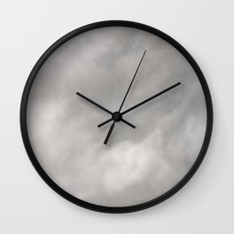 Gray Clouds Wall Clock