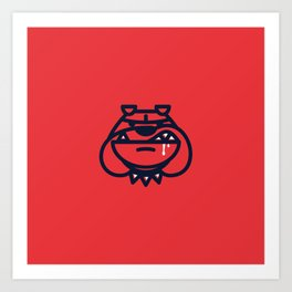 Year of the Bulldog - Dog Only Art Print