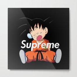 supreme goku logo Metal Print