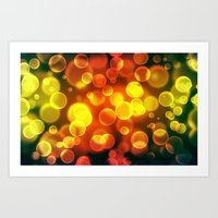 bokeh Art Prints featuring bokeh by davidmichel