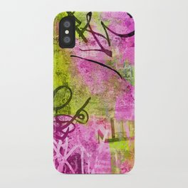 Abstract graffiti texture iPhone Case