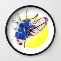 bug Wall Clocks featuring bug by Xenia Pirovskikh