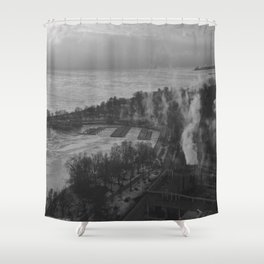 Gray Sky, Icy Lake (Chicago Winter Collection) Shower Curtain