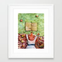 reading Framed Art Prints featuring Reading by bordrog