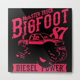 Big Foot Metal Print