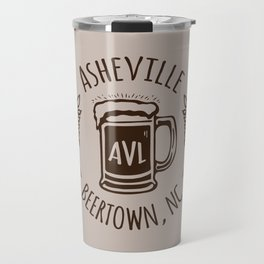Asheville Beer - AVL 3 Brown Travel Mug