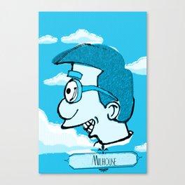 Milhouse in Blue  Canvas Print