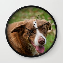 Red Dog Wall Clock