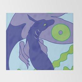 Hippocampus Throw Blanket