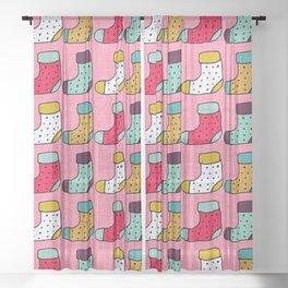 Christmas Stockings Pink #Christmas Sheer Curtain