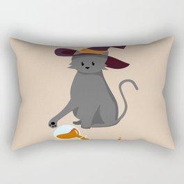 Mischievous Witch's Cat Rectangular Pillow