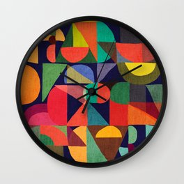 Color Blocks Wall Clock