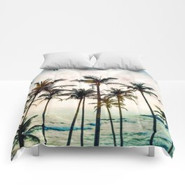 No Palm Trees Comforters