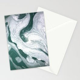 Marble- teal & silver Stationery Cards