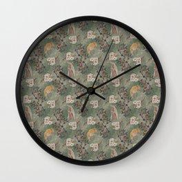Floral Armadillo Wall Clock