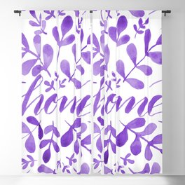 Watercolor home foliage - purple Blackout Curtain