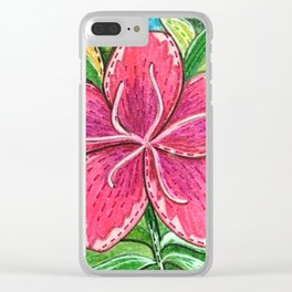 Azalea Clear iPhone Case