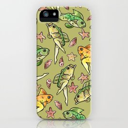 Reverse mermaids iPhone Case