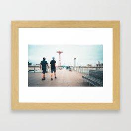 Coney Island Pier: Going Back Framed Art Print