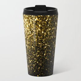 Beautiful Yellow Gold sparkles Travel Mug