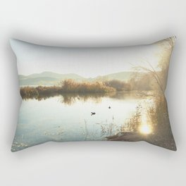 Autumn Lake Tranquility Rectangular Pillow