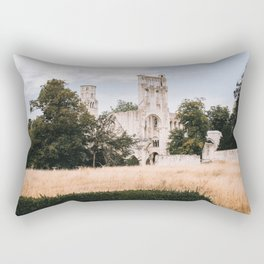 Jumièges Abbey | ruin in france on the normandy coast Rectangular Pillow