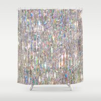 holographic Shower Curtains featuring To Love Beauty Is To See Light (Crystal Prism Abstract) by soaring anchor designs