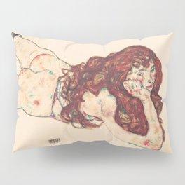 """Egon Schiele """"Auf dem Bauch liegender weiblicher Akt"""" Pillow Sham"""