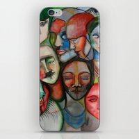 it crowd iPhone & iPod Skins featuring crowd by Elina Larsson