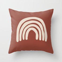 White Rainbow - Modern Home - Art Throw Pillow