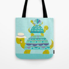turtle tower Tote Bag