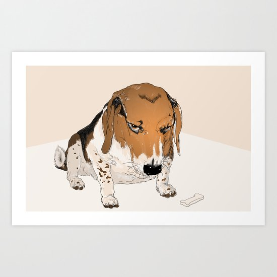 Beagle Bailey Art Print
