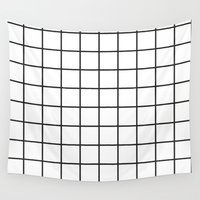 grid Wall Tapestries featuring GRID by Anna Lindner