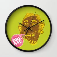 dreamer Wall Clocks featuring Dreamer by Oga Mendonça