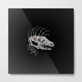 Punk Dawg Skeleton Metal Print