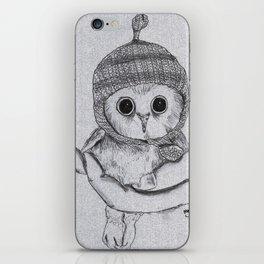 Bobble Hat Owl iPhone Skin